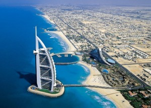 "Burj Al Arab, ""The world's only 7 star Hotel"" , 3rd tallest hotel in the world"
