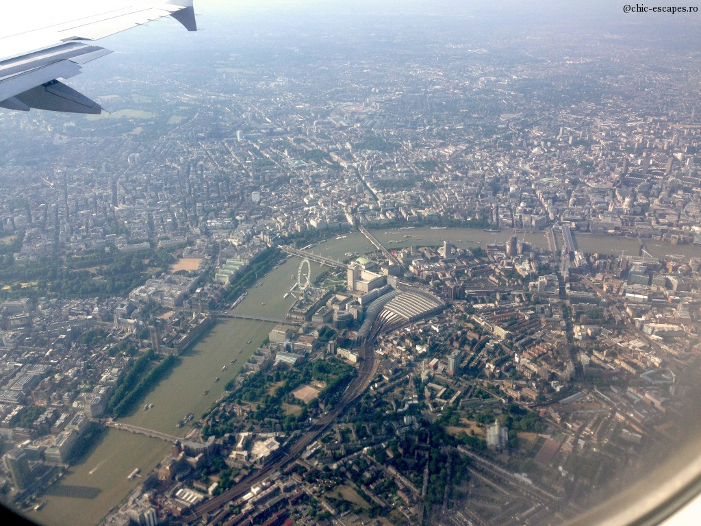 London aerial view from the plane!