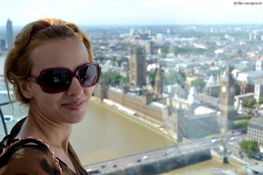 Up in the air, London Eye