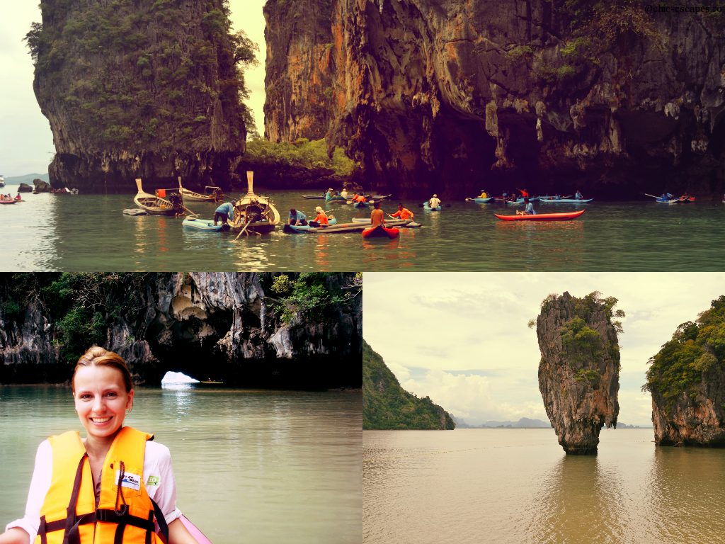 Cave canoeing & James Bond island view