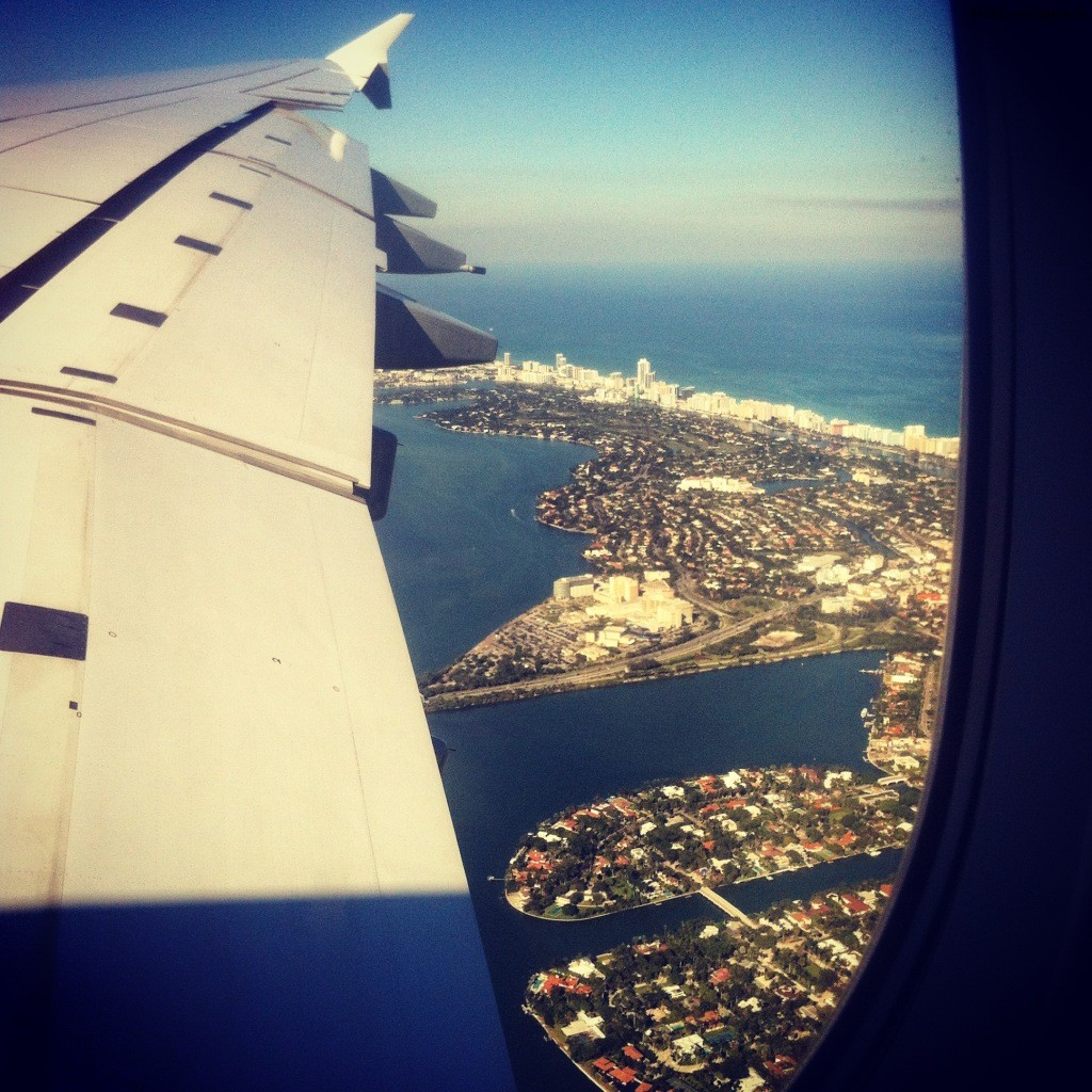 South Beach view from A380! Love it:)