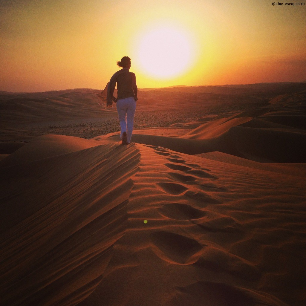 Sunset over the dunes, Liwa desert, UAE