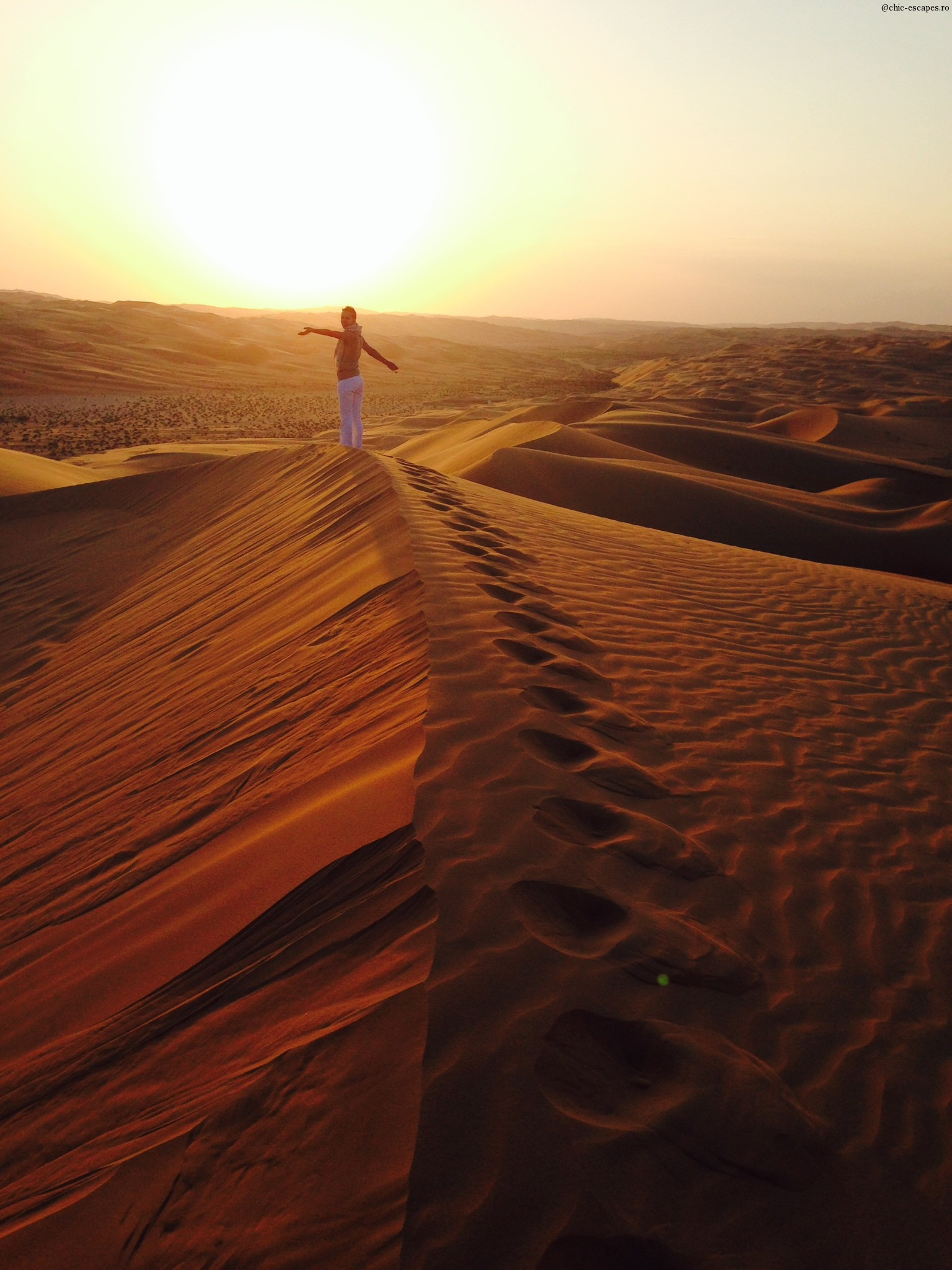 High on my own dune:) in Liwa desert