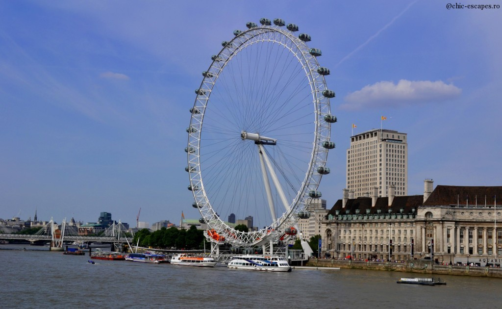 London Eye, 135 m, in 1999 the tallest wheel with observation deck in the world.