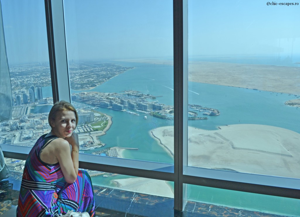 Abu Dhabi as seen from  75th floor, tower 2, Etihad
