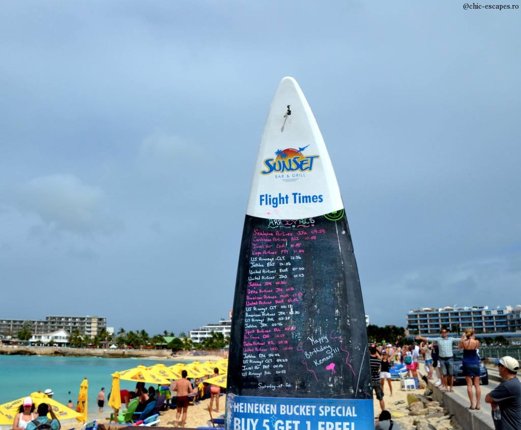 Today's Menu at Sunset Bar beach:) Maho Beach, St Maarten