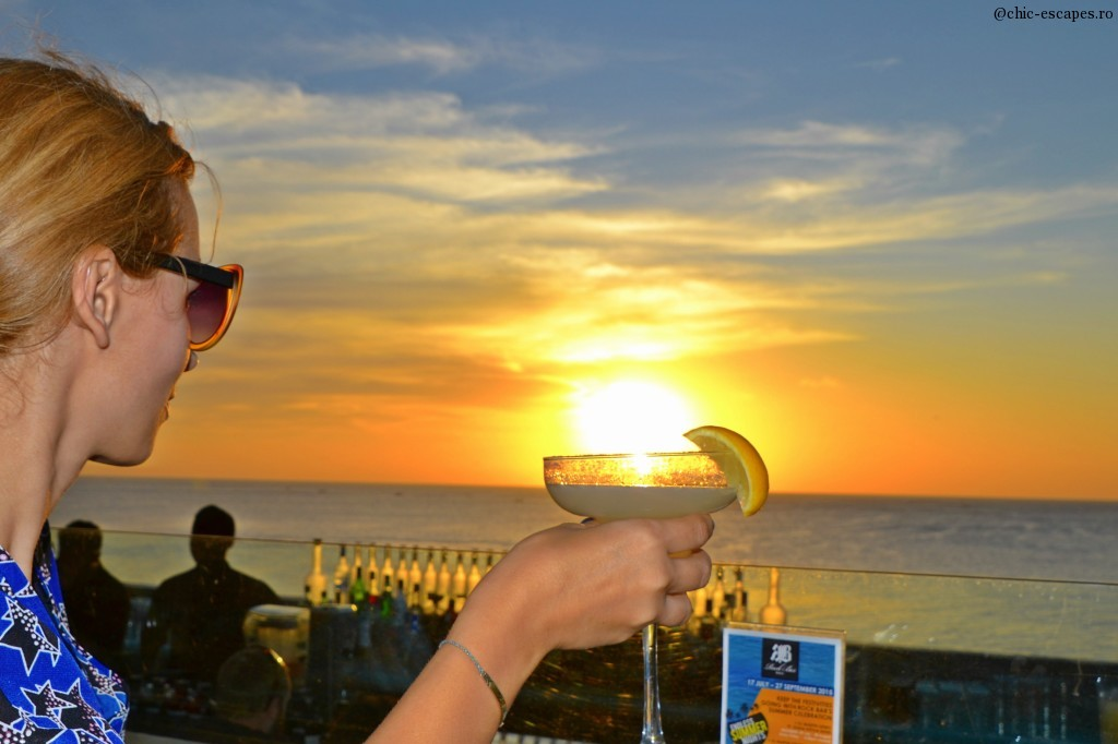 Sunset in a Margarita at the famous Rock Bar