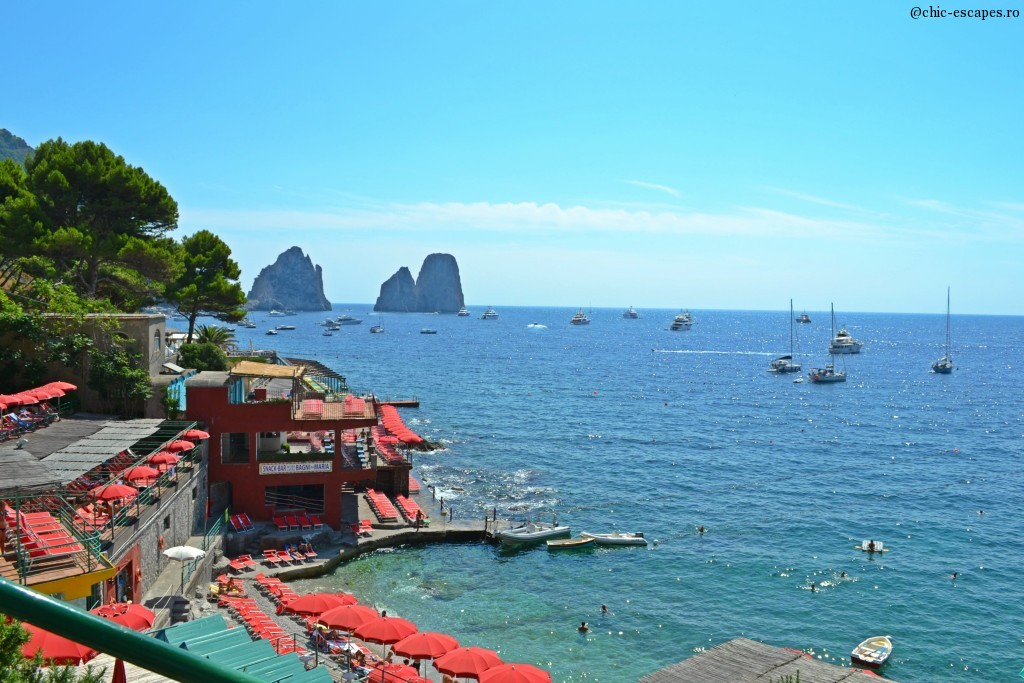 Marina Piccola Beach in Capri!